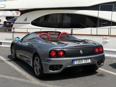 Gray color with red leather interior convertible Ferrari Kuvituskuvat