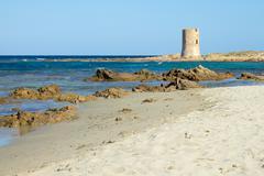San Giovanni beach in Sardinia - stock photo