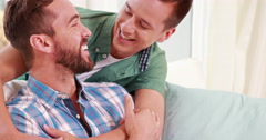 Two homosexual together Stock Footage