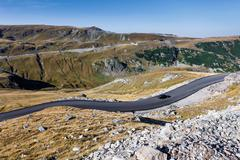 Stock Photo of Transalpina the highest altitude road crossing the Caphatian mountains in Rom