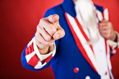 Stock Photo of USA: Traditional Uncle Sam Pointing At You