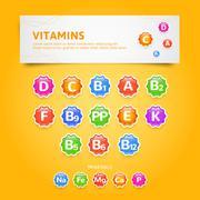 Vitamins - stock illustration