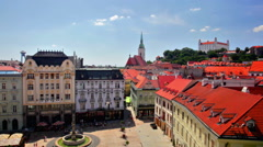 Top view on a central square. Stock Footage