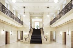 Staircase and architecture of courthouse Stock Photos