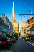 Stock Photo of Clay Street, in Chinatown, San Francisco, California.