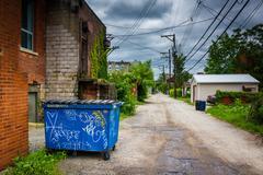 Gem Way, in Garfield, Pittsburgh, Pennsylvania. - stock photo