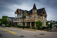 House along Grandview Avenue, in Mount Washington, Pittsburgh, Pennsylvania. Stock Photos