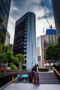 Stock Photo of Skyscrapers in the Financial District, in downtown Los Angeles, California.