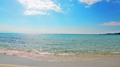 Alghero shoreline on a clear day Stock Footage