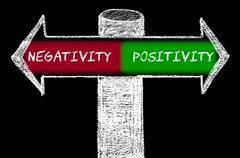 Opposite arrows with Negativity versus Positivity - stock illustration