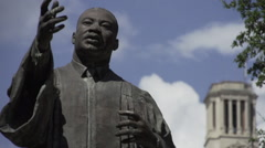 Martin Luther King on University of Texas Campus Timelapse Stock Footage