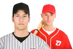 Baseball: Players On Opposing Teams - stock photo