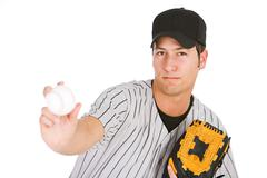Stock Photo of Baseball: Player Throwing The Ball