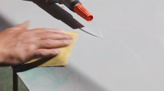 Grinding of metal surface Stock Footage