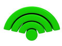 Wireless Network Symbol Stock Illustration