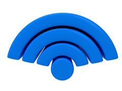 Wireless Network Symbol - stock illustration