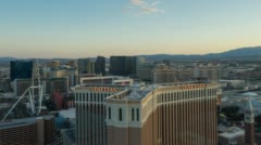 Las Vegas Timelapse Sunset From Palazzo - Ferris Wheel Stock Footage