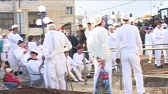 Traditional Passover Ceremony for the ancient Samaritans Stock Footage
