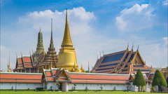 Wat Phra Kaew Famous Temple Of the Emerald Buddha Bangkok, Thailand (Time Lapse) Stock Footage