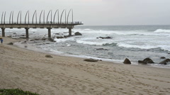 Millenium Pier - Umhlanga Rocks - Durban Stock Footage