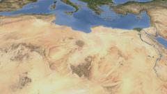 Libya on maps - Do It Yourself as you like. Neighbourhood Stock Footage