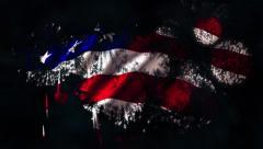 Fireworks Flag matt Stock Footage
