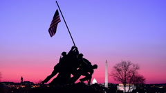 Iwo Jima War Memorial Stock Footage