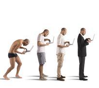 Successful man evolution Stock Photos