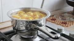 Broth with dumplings Stock Footage