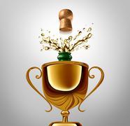 Winner Celebration - stock illustration