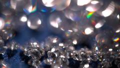 Rainbow starbursts - CZ Diamonds Stock Footage
