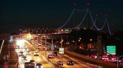 Night Traffic in New York City Stock Footage