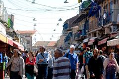 Mahane Yehuda Market in Jerusalem - Israel - stock photo