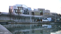 Scottish parliament building. Stock Footage