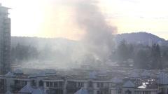 Apartment complex fire in coquitlam British Columbia Canada Stock Footage