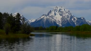 Stock Video Footage of Grand Tetons With River In The Foreground