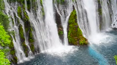 Close Up Base Of Burney Falls Stock Footage