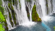 Stock Video Footage of Close Up Base Of Burney Falls