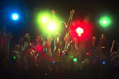 Audience enjoying concert Kuvituskuvat