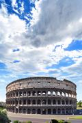 Coliseum from the Roman Empire, in Rome Italy - stock photo
