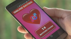 4K Online Dating Smartphone Screen - stock footage