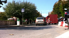 Road traffic in Corfu Town. Stock Footage