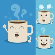 Cup of coffee cartoon Stock Illustration