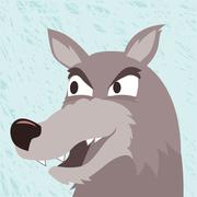 Wild wolf. Vector - stock illustration