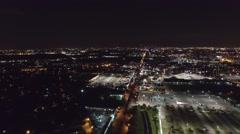 Houston at Night 4k (Pan Left) Arkistovideo