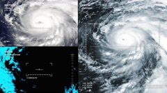 Aerial surveillance drone/UAV flyover of a major hurricane. Stock Footage