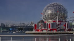 Science World and BC Place Stock Footage