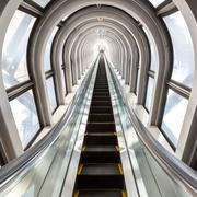 Stock Photo of escalators successful concept