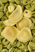 Pasta collection background - stock photo