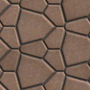 Brown Paving Slabs in the Form Polygons of Different Value - stock illustration